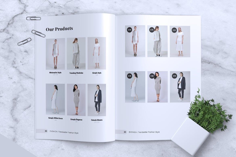 简洁企业产品服装画册模板素材下载ENTHICA / Fashion Magazine