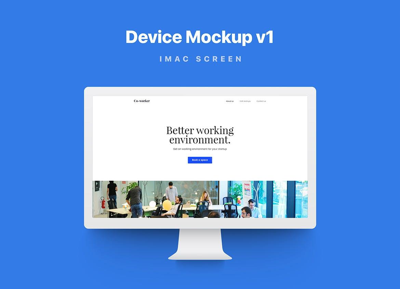多端响应式设备样机模板素材展示Responsive Device Mockup Vol 1.0