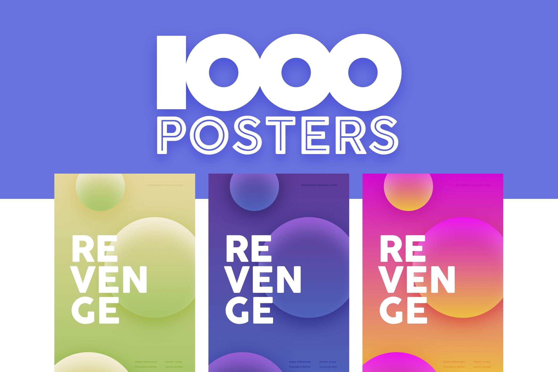 1000张海报模板1000 Poster Templates