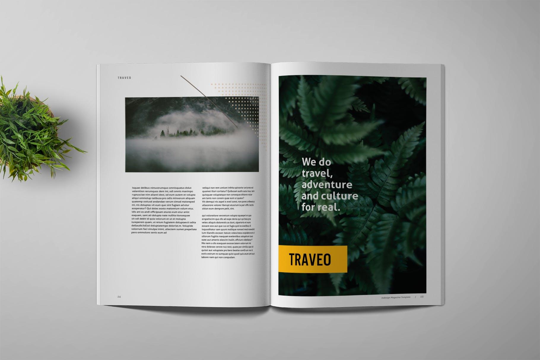 旅游出行类画册杂志模板展示素材Traveo - Magazine Template