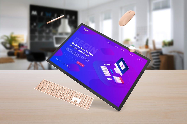 Surface电脑模板素材样机Surface Studio Mockup V.3