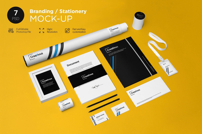 高端精致品牌VI样机素材模板展示效果图Branding / Stationery Mock-Up