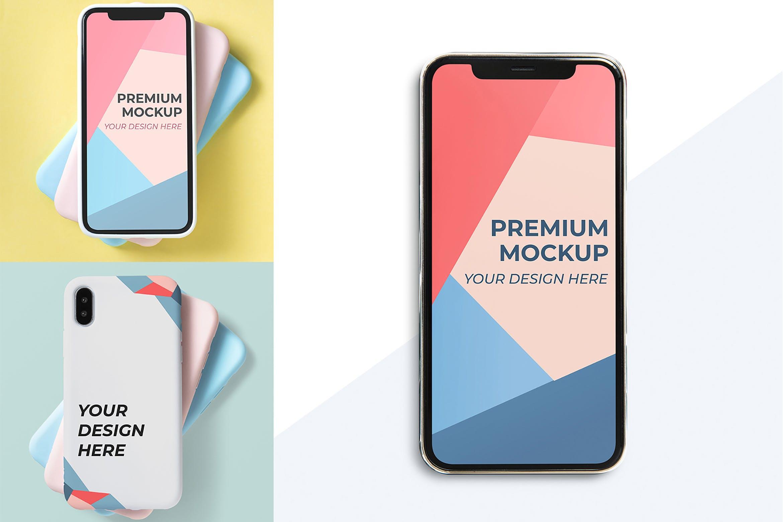 多彩手机后壳样机模板素材展示Mobile Design Mockup
