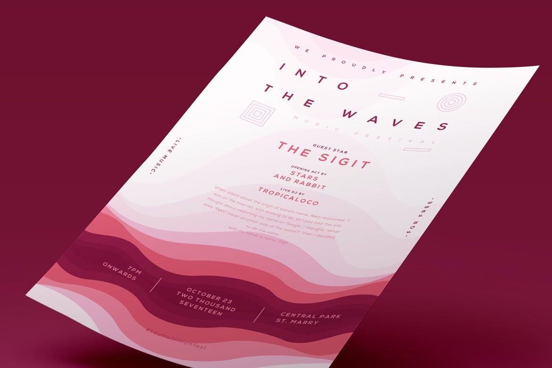 音乐活动海报素材模板Music Event Poster