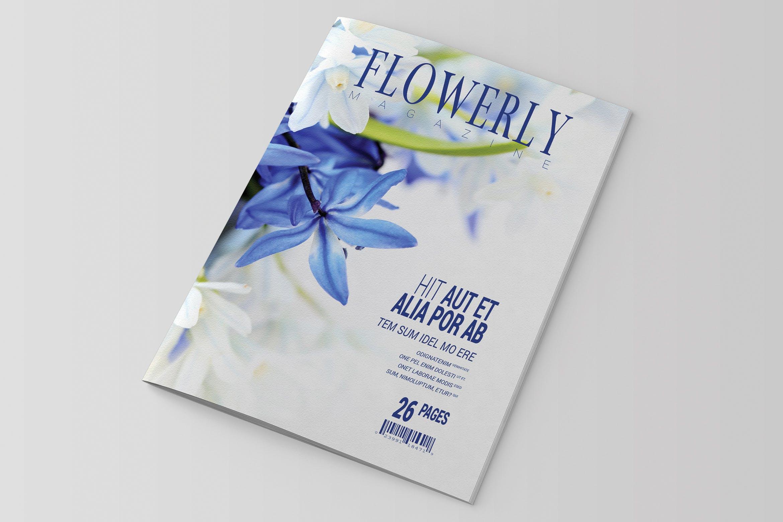 花卉植物类画册模板素材下载InDesign Magazine Template