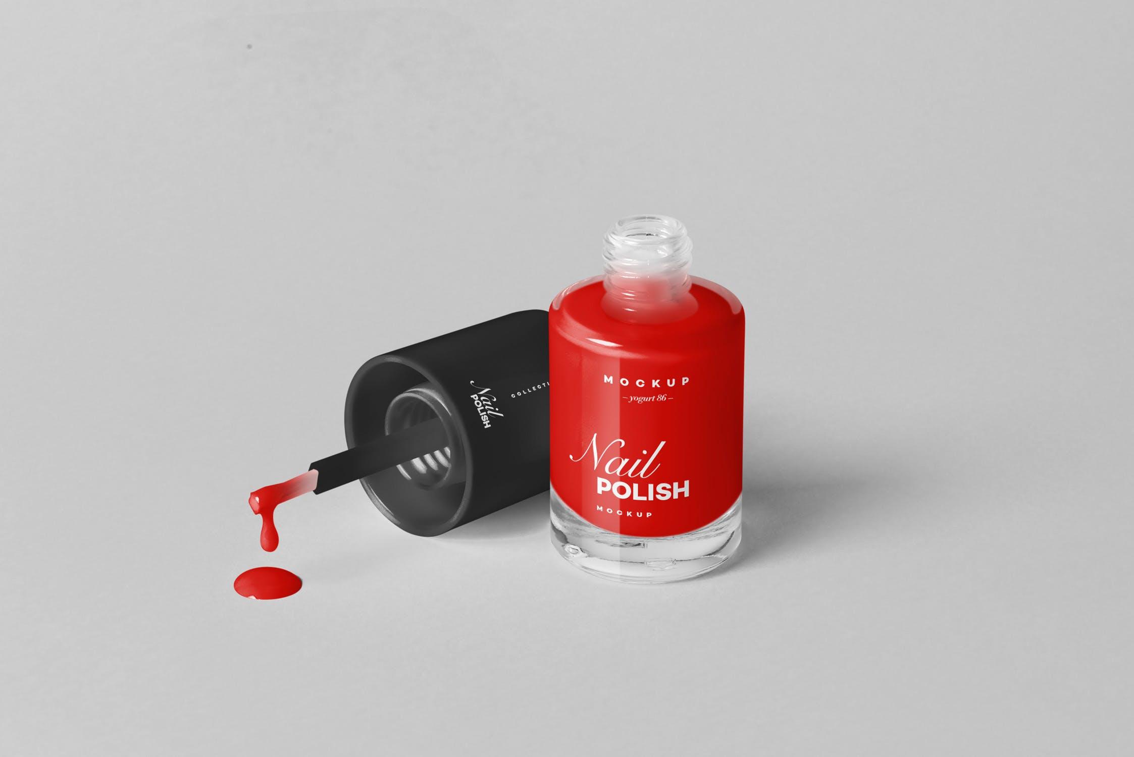 精品指甲油样机素材模板展示样机素材Nail Polish Mock-up