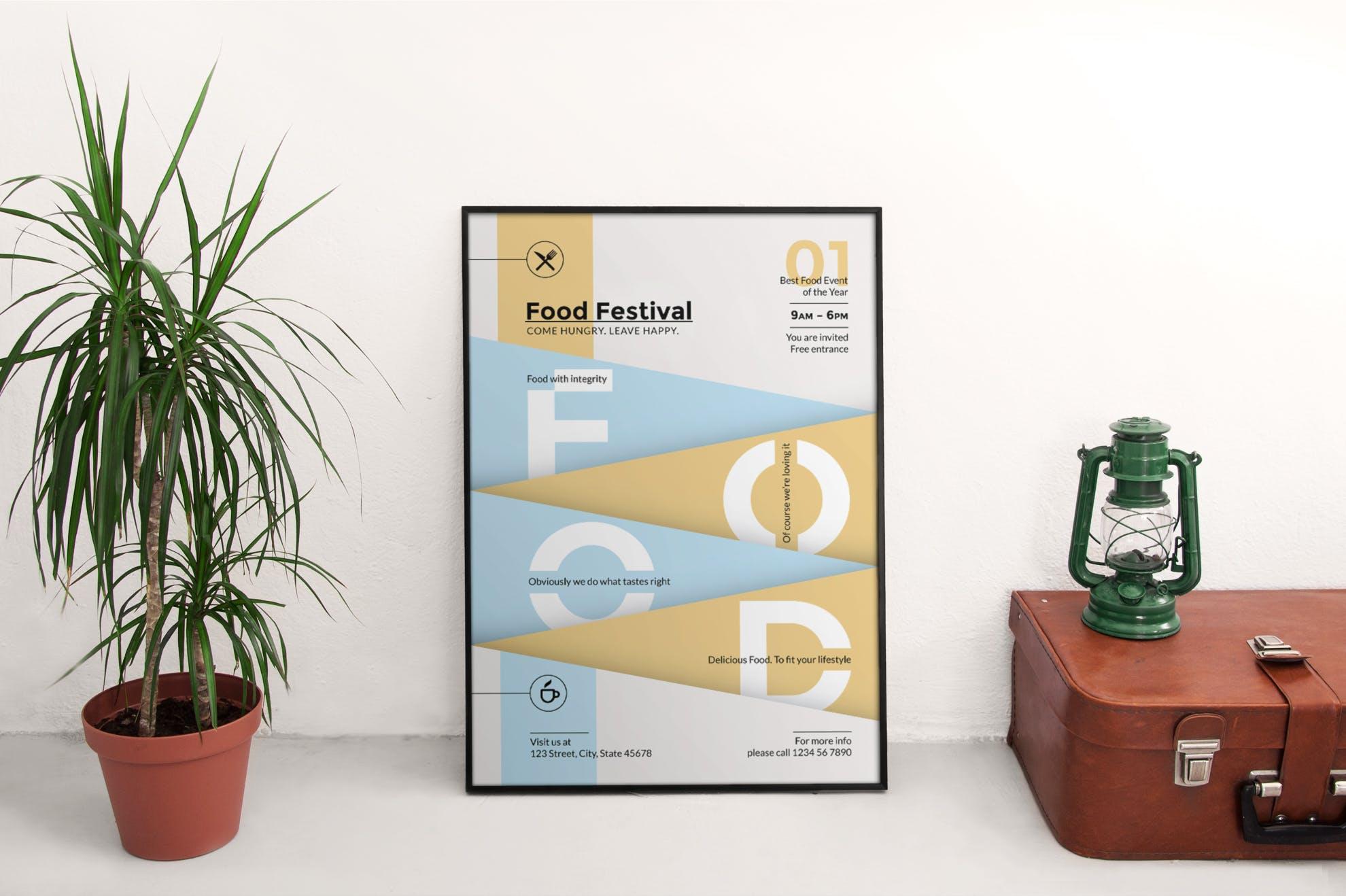 美食节传单和海报模板Food Festival Flyer and Poster Template插图(4)