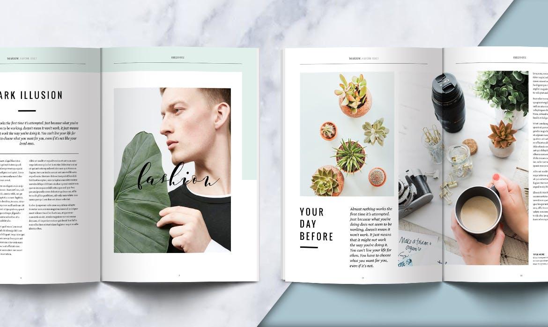 绿植生态画册模板素材样机展示Clean Magazine