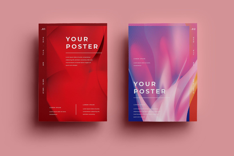 创意艺术设计科技感粒子海报模板展示AFR-Poster Design.08