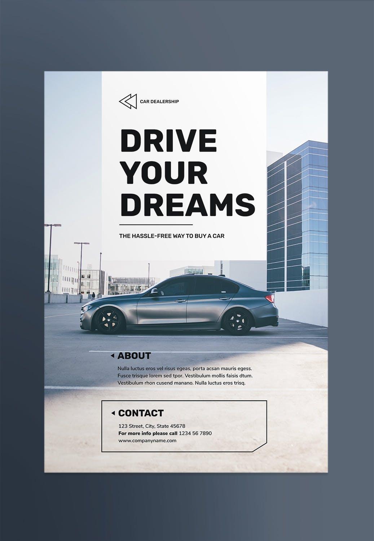 汽车经销商海报/传单模板展示素材Car Dealership Poster