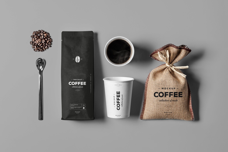 高端咖啡模包装板样机素材下载Coffe Mock-up