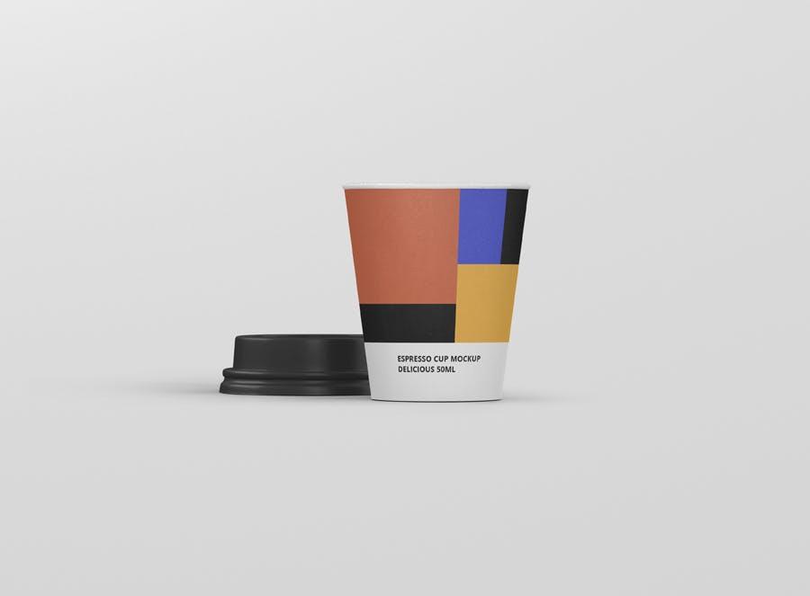 咖啡杯纸杯杯子热饮样机模板素材样机展示素材Espresso Coffee Cup Mockup