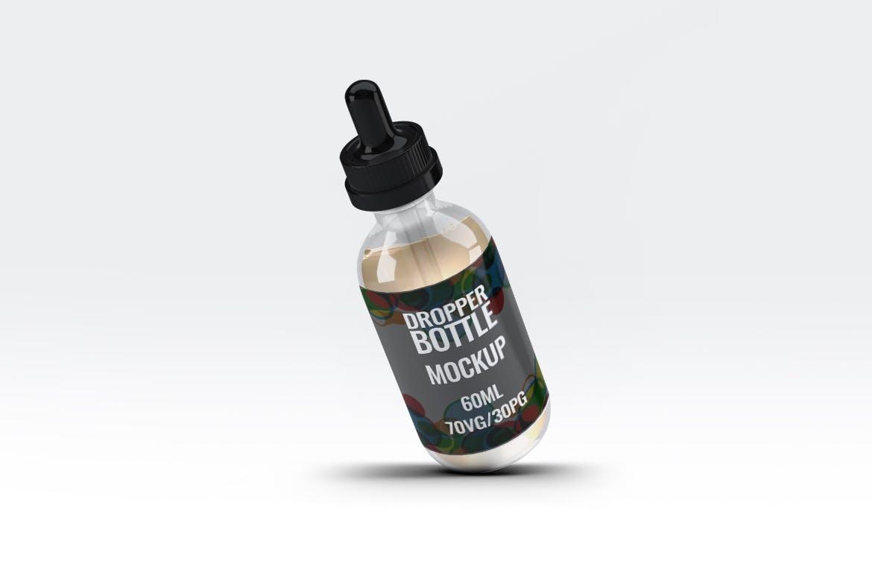 60ml容量样机素材模版展示素材瞎子啊60ml Dropper Bottle Mock-Up