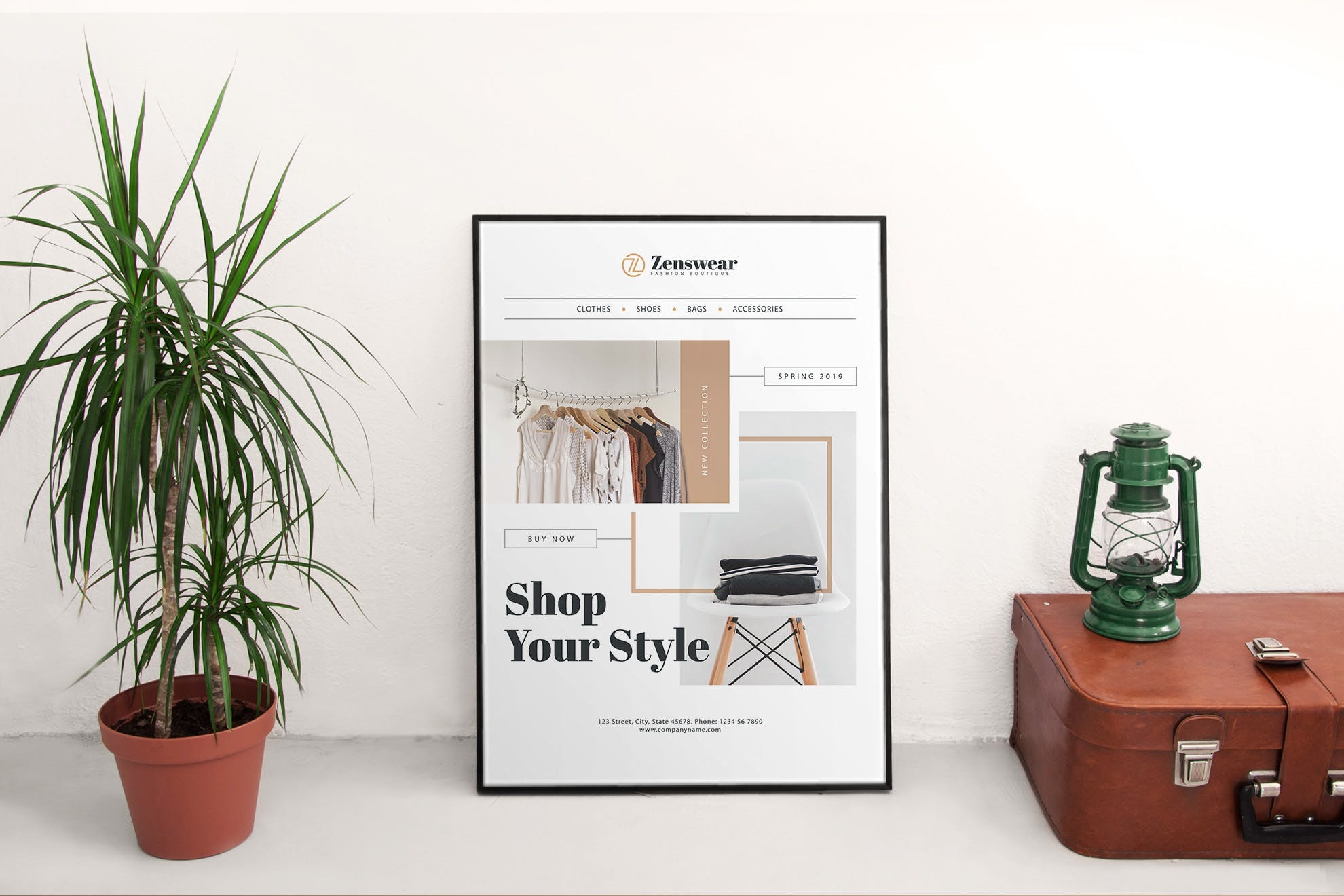 欧美风智能家居商店海报/传单Boutique Poster