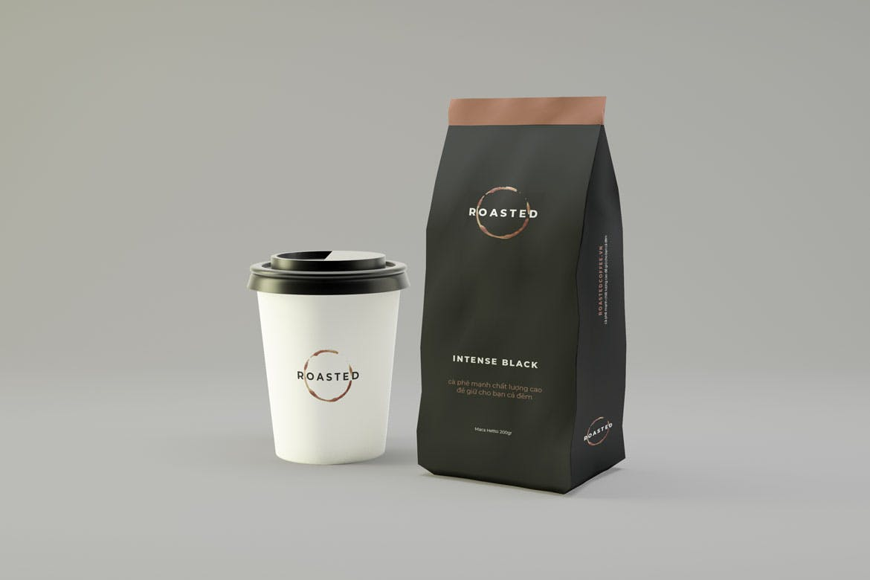 咖啡包装袋样机素材Coffee Packaging Mockup