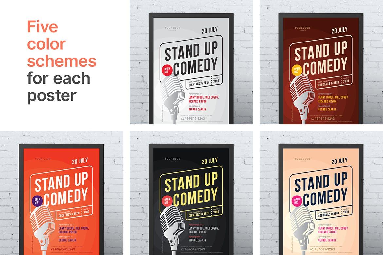 精致排版演唱会传单海报模板Standup Poster Template