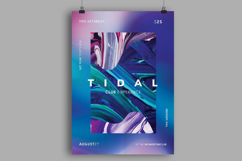 油画色彩笔触模板素材传单/海报模板Tidal Flyer / Poster Template