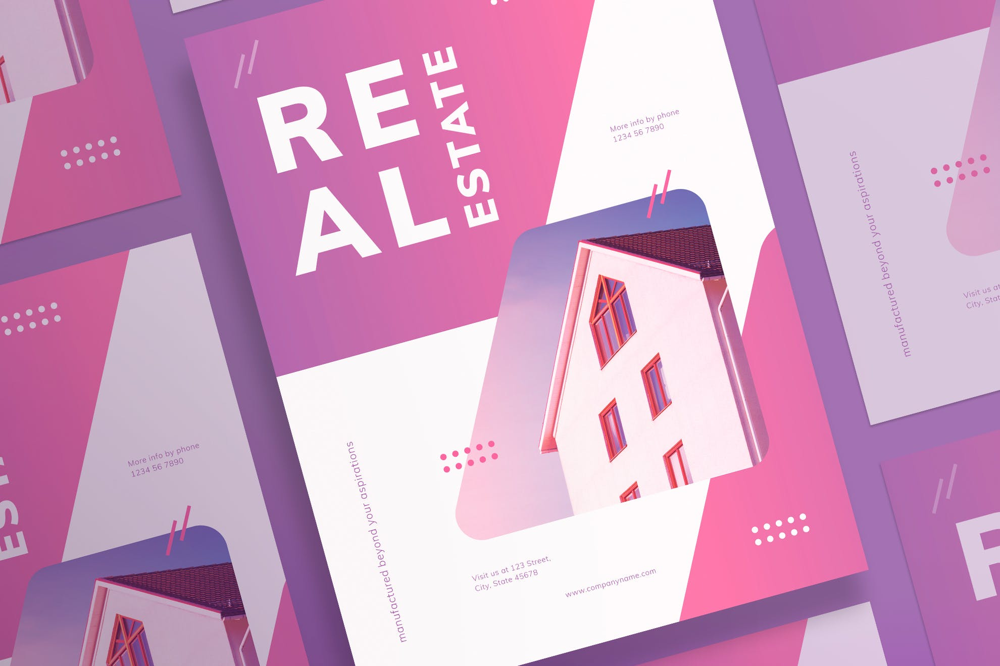 房地产代理传单和海报模板Real Estate Agency Flyer and Poster Template