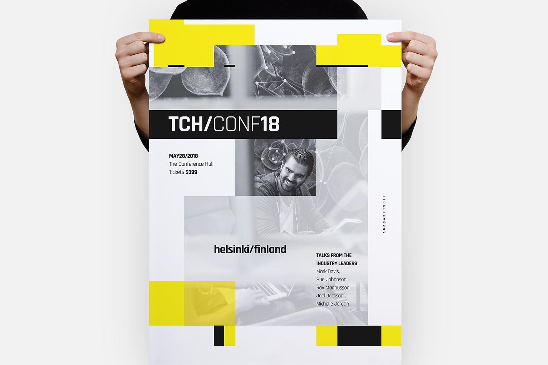 技术发布会海报模板Tech Poster Template