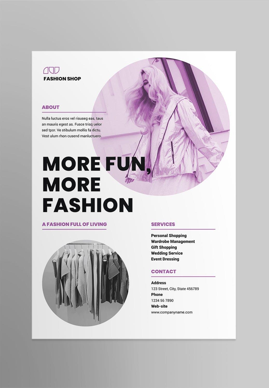 时尚服装店海报/传单模板素材Fashion Shop Poster