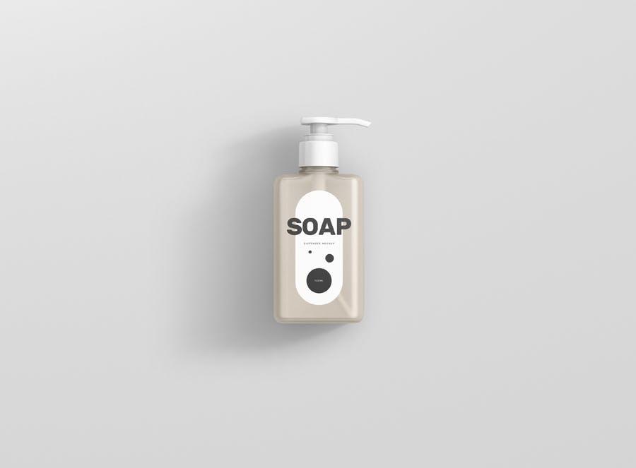 Soap Dispenser Mockup Rectangle Small