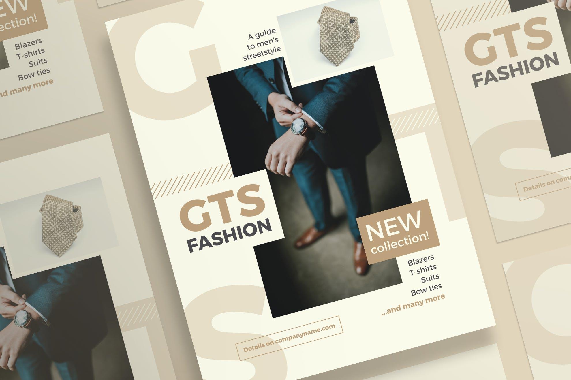 时尚服装传单和海报模板Fashion Clothes Flyer and Poster Template