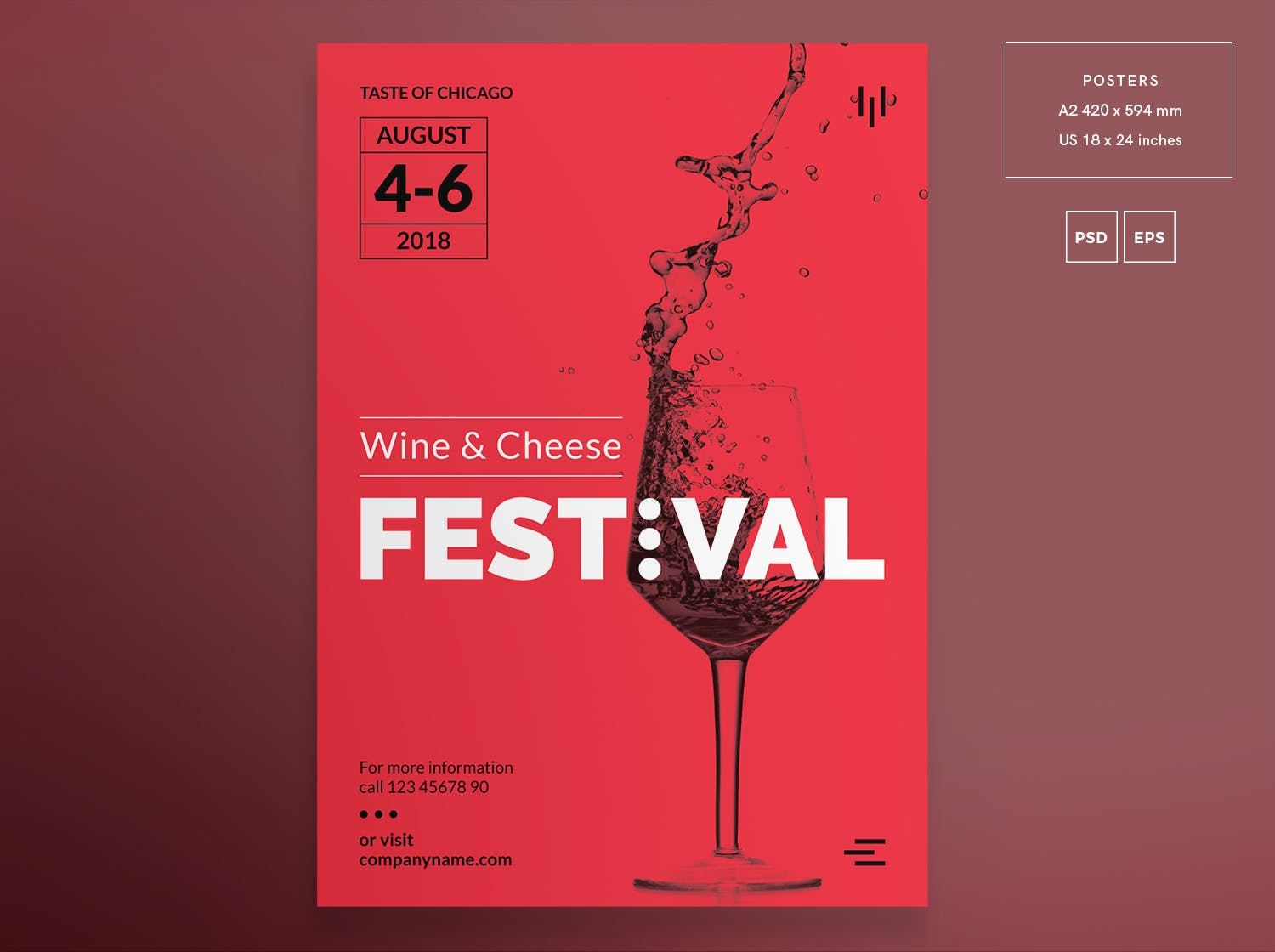 葡萄酒节传单和海报模板Wine Festival Flyer and Poster Template