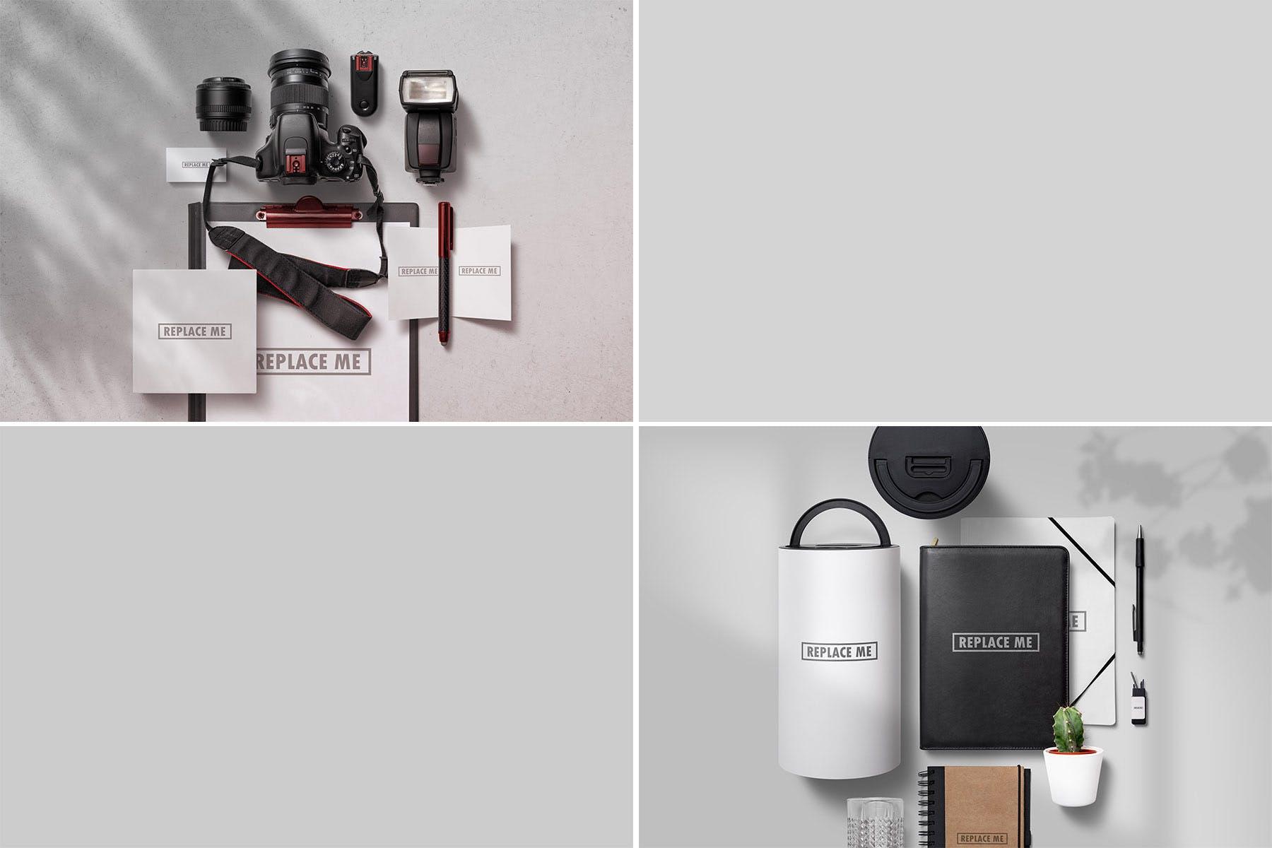 企业品牌识别系统VI样机素材模板展示素材Art & Branding Mockups Vol.1