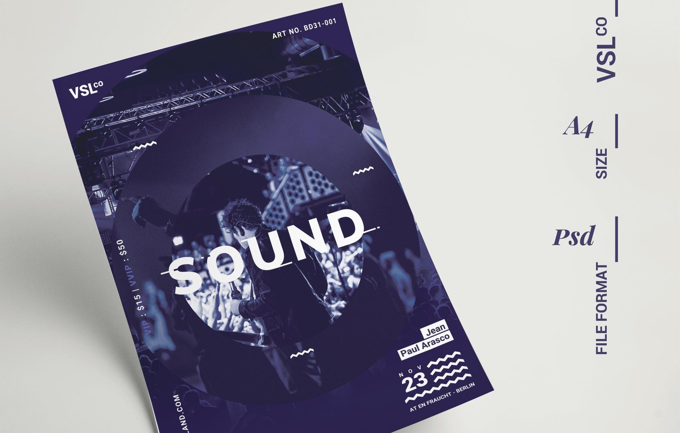 音乐演唱会活动海报/传单模板展示素材Music Poster