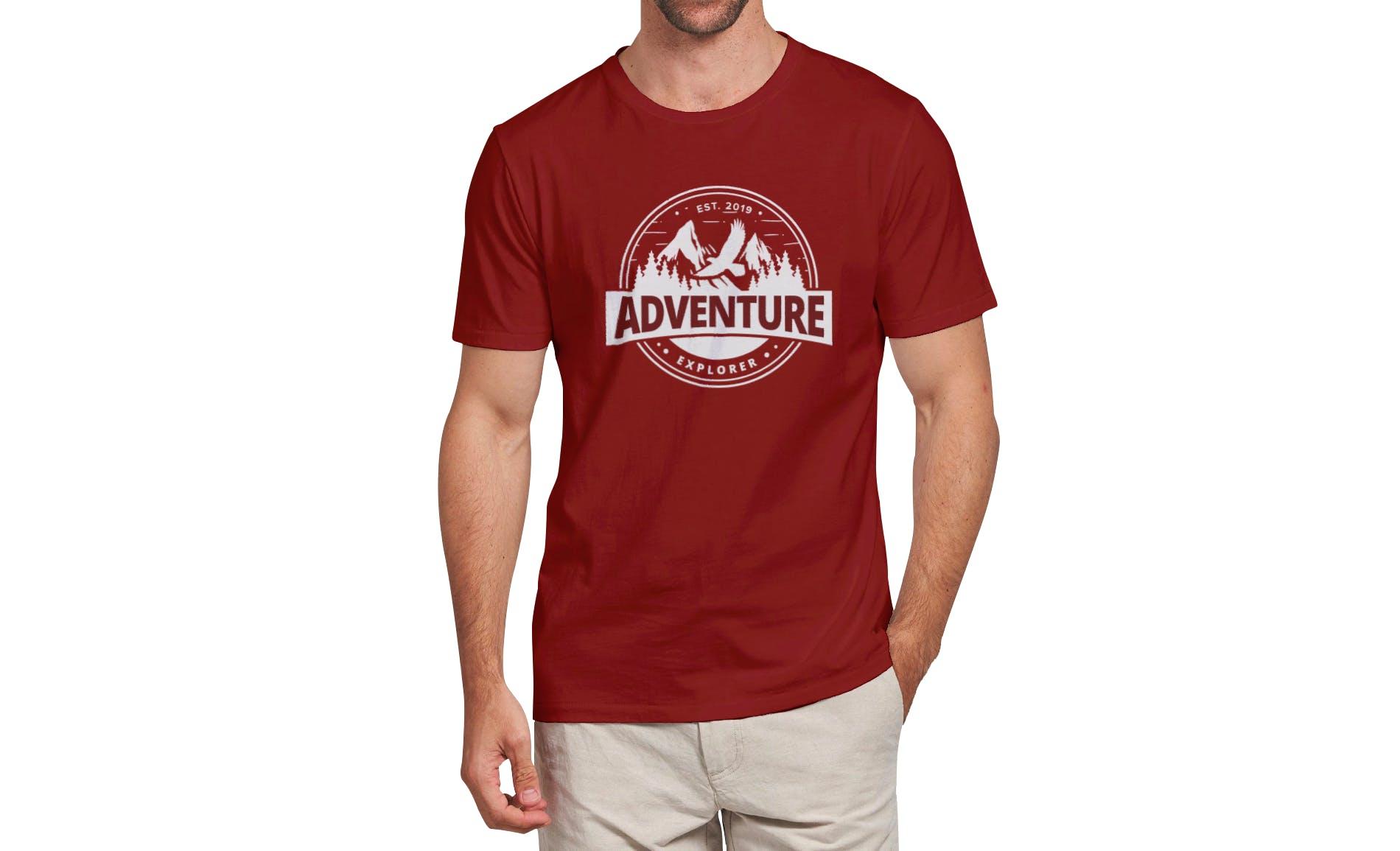 男士服装样机素材模板样机多视角展示效果图T-shirt Mockup Vol 03