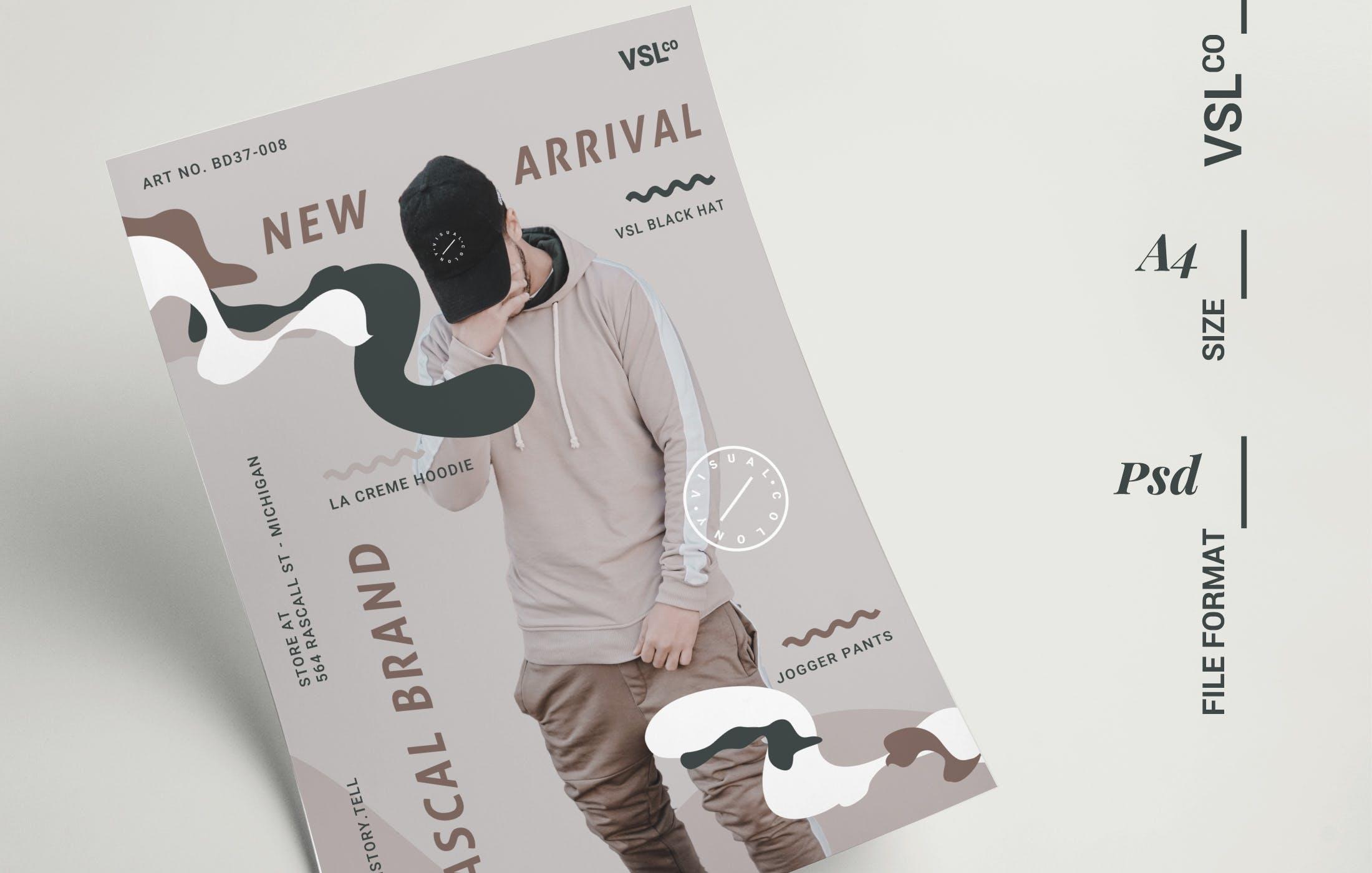 时尚简约海报风格模板传单素材Fashion Poster