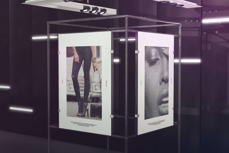 展览海报展台样机Exhibition Poster Stand Mockups