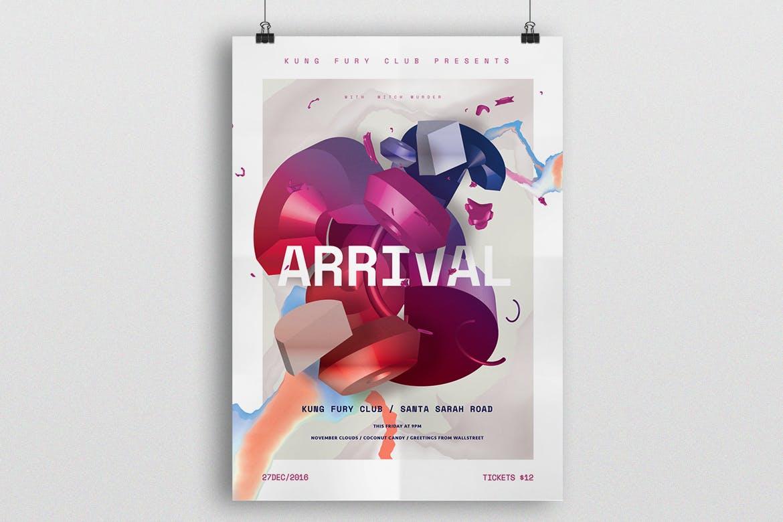 到货海报/传单素材模板展示Arrival Poster / Flyer