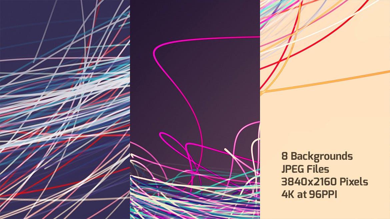 五颜六色的退色的线背景Colorful Faded Lines Background