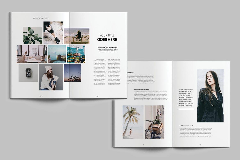 优雅简洁旅行类杂志模板素材下载