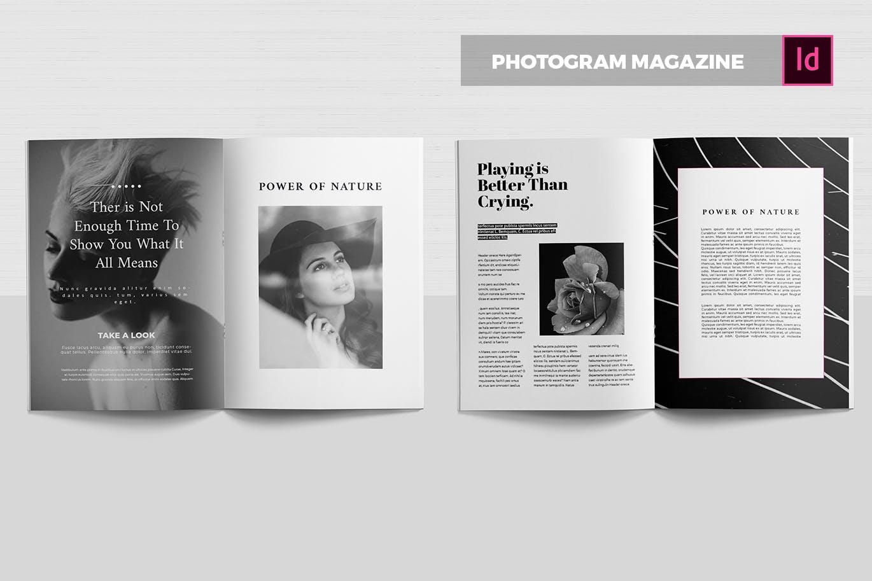 精致排版摄影| 杂志模板素材下载效果图样机Photogram | Magazine