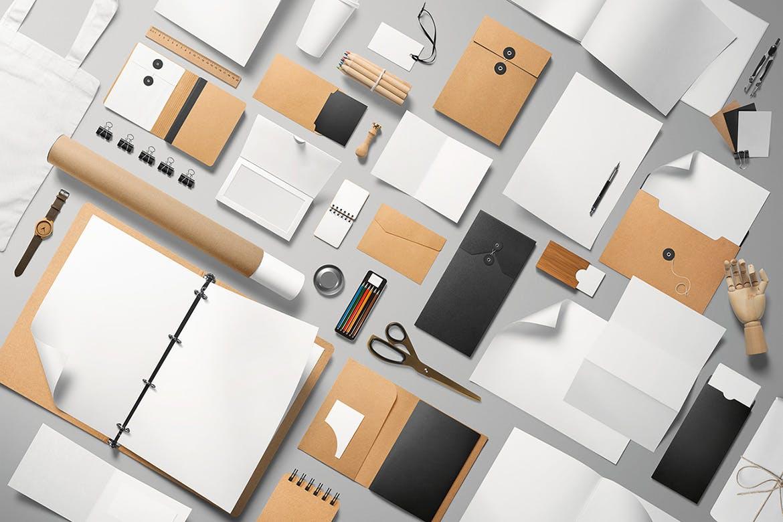 办公品牌VI样机模板素材展示样机Branding Mockup Essentials Vol. 1