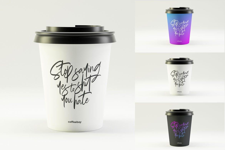 咖啡杯素材模版样机展示效果图模版Coffee Cup Mockup