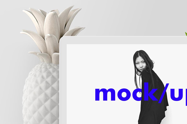 笔记本电脑渲染效果图样机素材模板展示Minimalist MacBook Screen Showcase Mock-up PSD