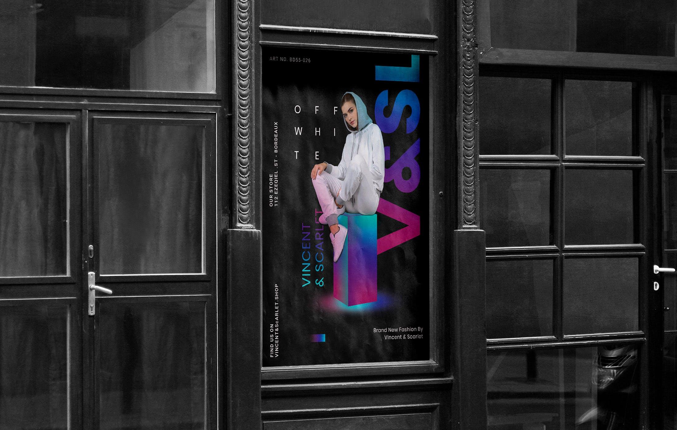 渐变风时尚封装展示海报/传单模板素材elements-fashion-poster-49F9RF