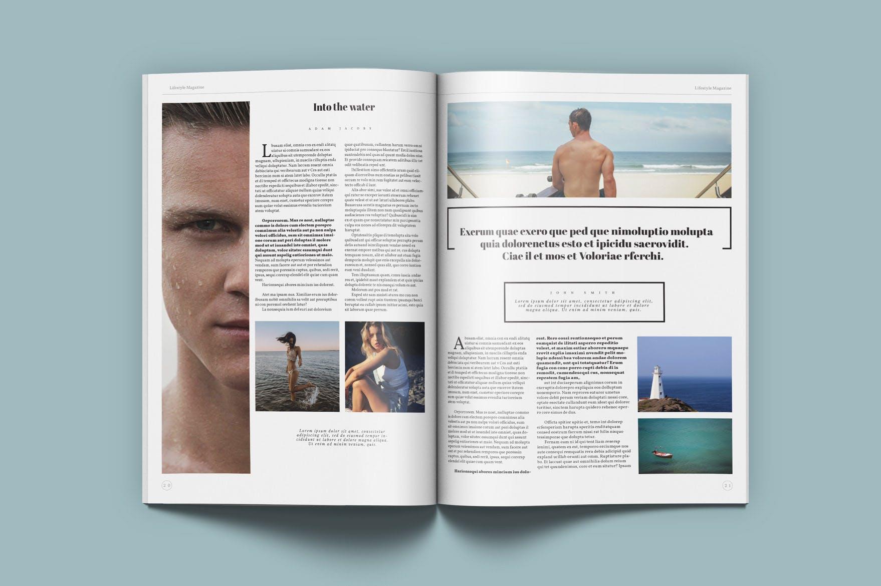 生活方式通用画册模板企业产品展示画册素材下载Lifestyle Universal Magazine