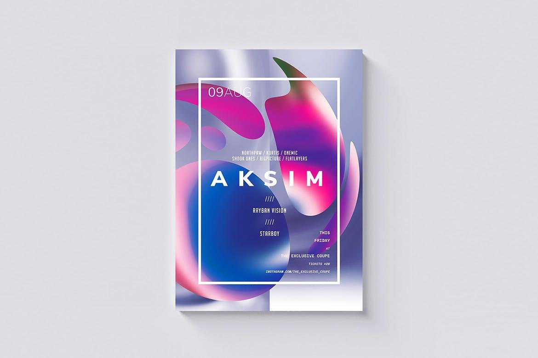 色彩创意图形设计模板素材海报/传单模板Aksim Poster / Flyer Template