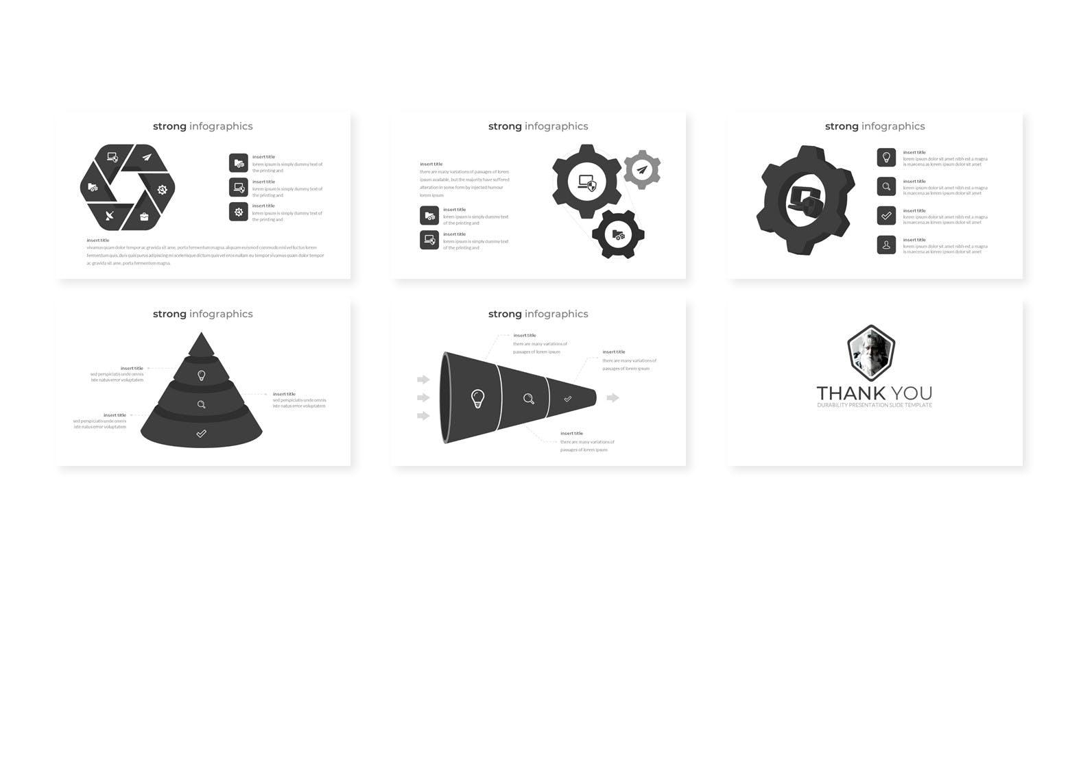 欧美时尚多功能PPT模版 Durability - Powerpoint Template