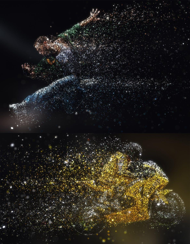 人物光点特效闪光风暴 Photoshop PS动作 Glitterstorm Photoshop Action