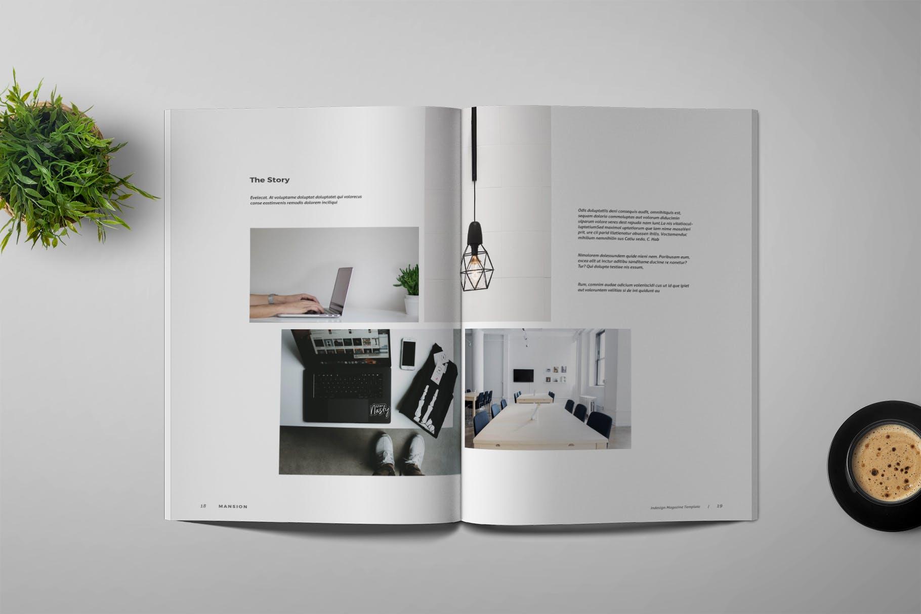企业画册建筑类模板素材下载Mansion - Magazine Template