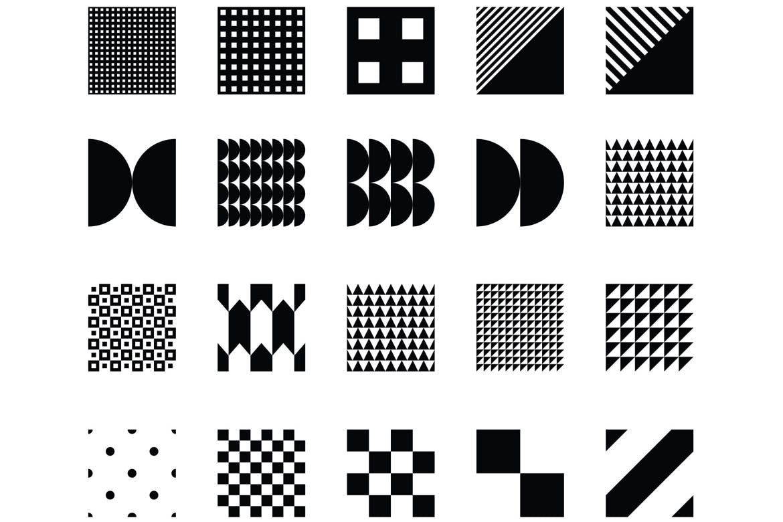 100个创意设计几何图案模板素材展示样机100 seamless geometric patterns