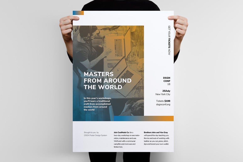 现代主义系列海报模板展示素材DSGN Series 8 Poster Template