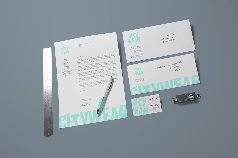 企业品牌视觉识别系统样机素材模板展示样机下载Corporate Branding / Identity Mock-up