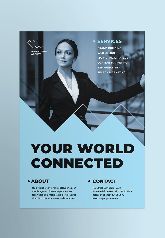 广告顾问企业宣传 传单/海报模板素材Advertising Consultant Poster插图(1)