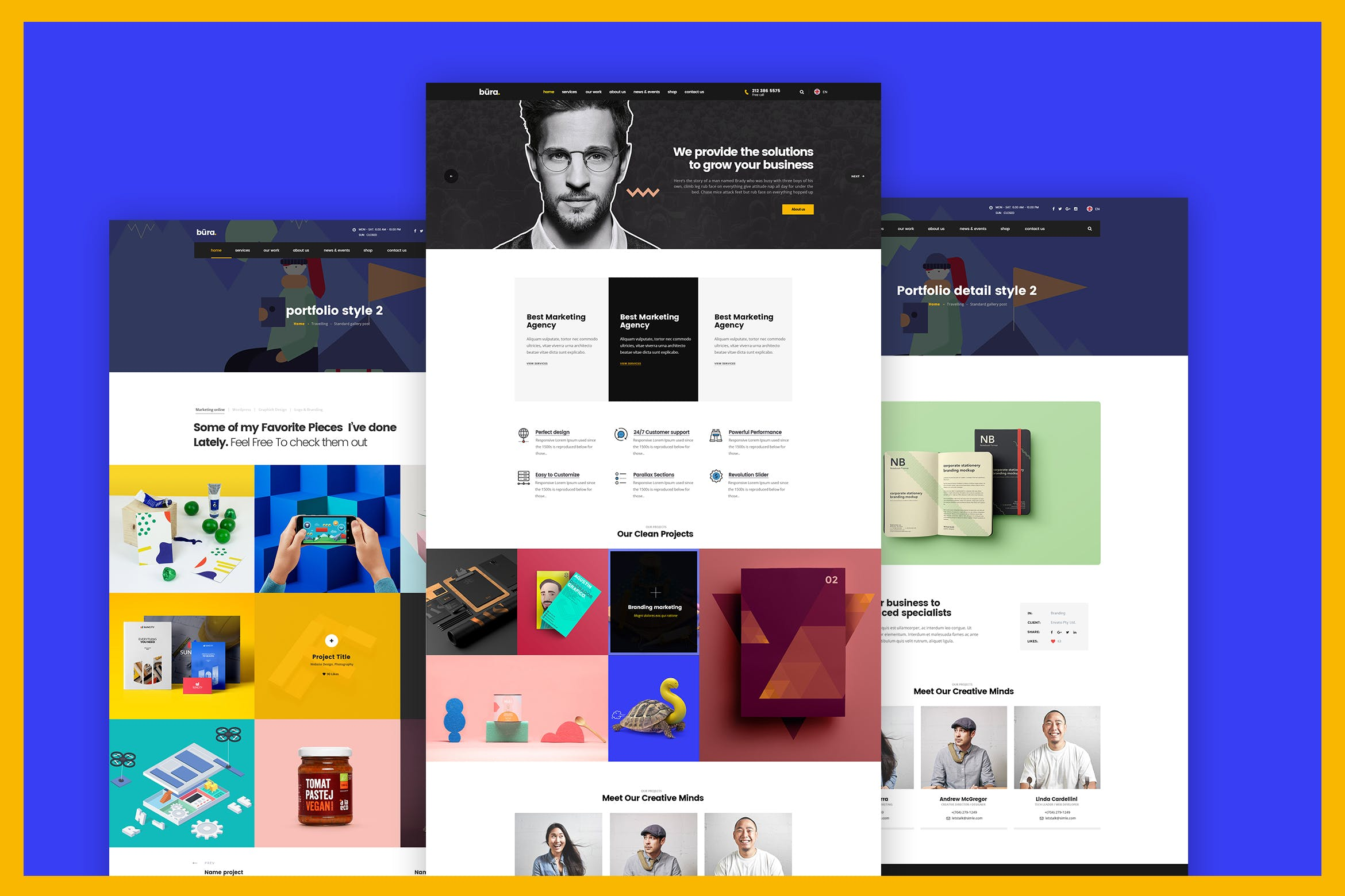 WEB端创意商业服务网站 Build Your Own Business Website Design Template